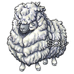 Bad Hair Day Sheep Digi Stamp, SomeOddGirl - 1