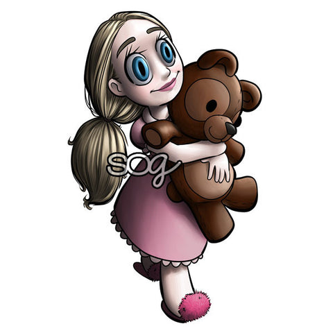 Tia Bear Digi Stamp, SomeOddGirl