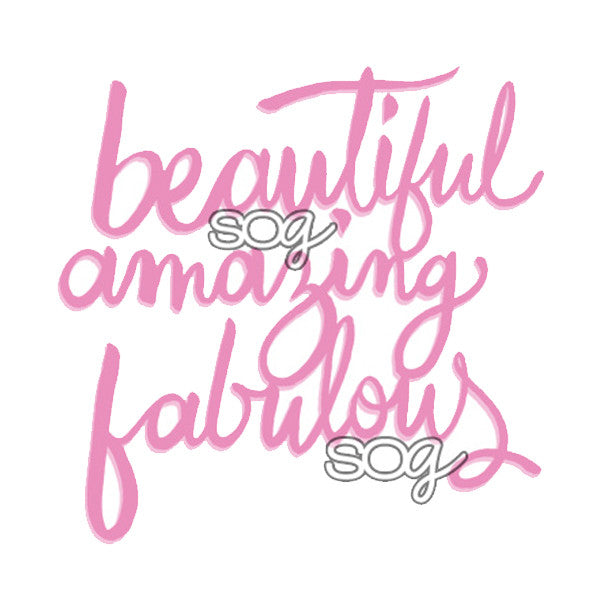 Cut File: Beautiful, Amazing, Fabulous, SomeOddGirl - 1
