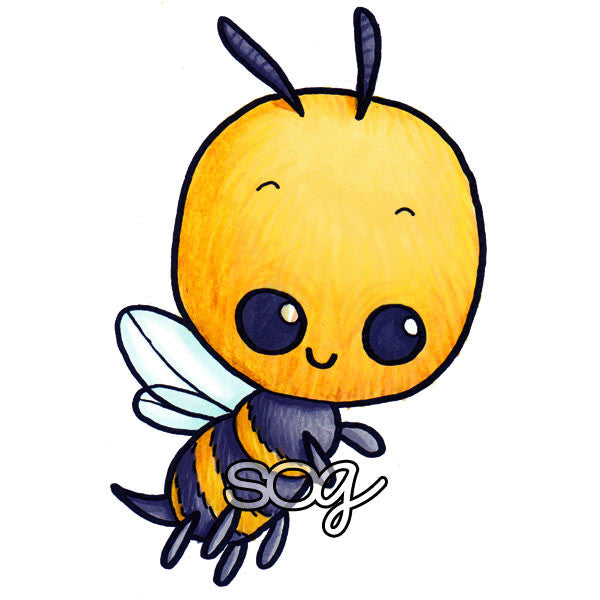 Buzzy Bee Digi Stamp, SomeOddGirl
