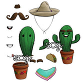 Cactus Man Digi Stamp Set
