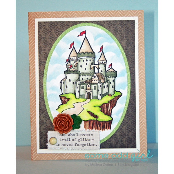 Castle on a Cliff Digi Stamp, SomeOddGirl - 2