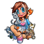 Cat Lady Kaylee Digi Stamp