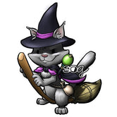 Cat Wizard Digi Stamp
