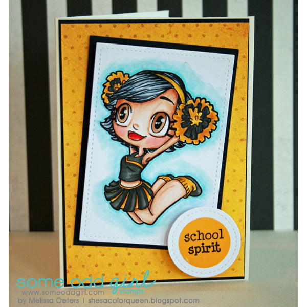 Cheerleader Kaylee Digi Stamp