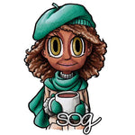 Coffee Piper Digi Stamp, SomeOddGirl - 1