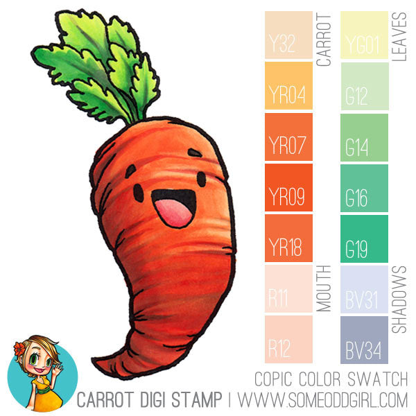 Carrot Digi Stamp, SomeOddGirl - 4