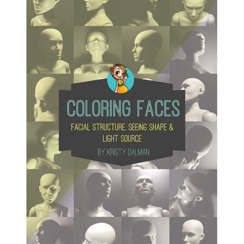 Coloring Faces Ebook, SomeOddGirl - 1