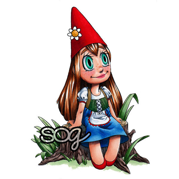 Gnome Girl Digi Stamp, SomeOddGirl