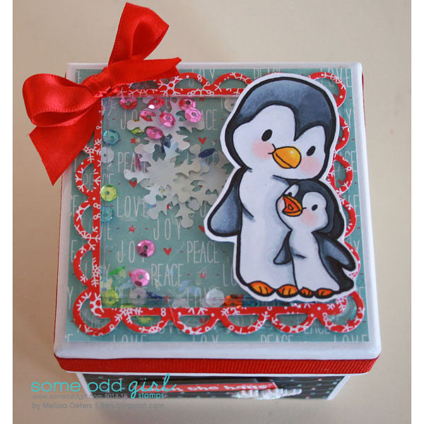 Momma & Baby Penguin Digi Stamp, SomeOddGirl - 2