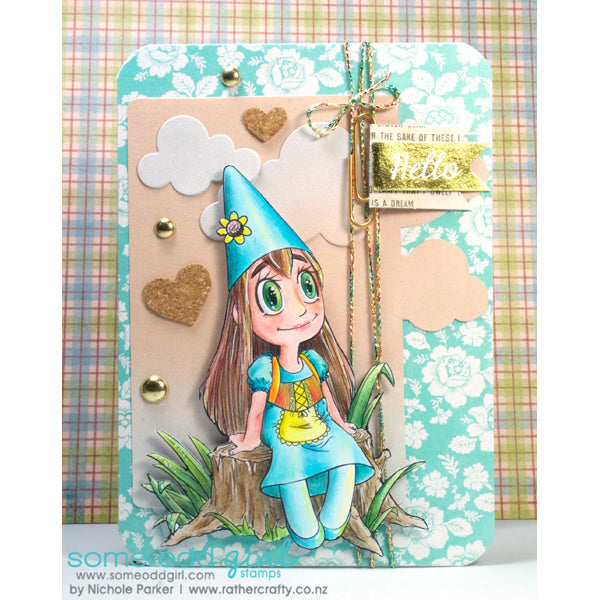 Gnome Girl Digi Stamp