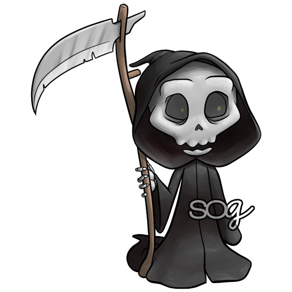 Mini Grim Reaper Digi Stamp