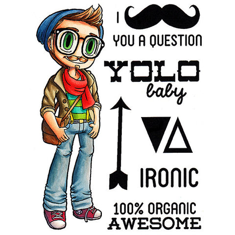 Hipster Kody Clear Stamp, SomeOddGirl - 1