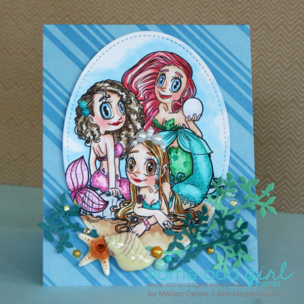 Pearl Mermaid Digi Stamp, SomeOddGirl - 11