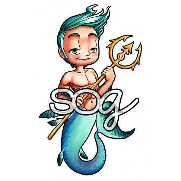 MerMan Kody Digi Stamp, SomeOddGirl - 1