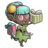Mini Present Elf Digi Stamp