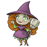 Mini Witch Digi Stamp