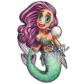 Pearl Mermaid Digi Stamp