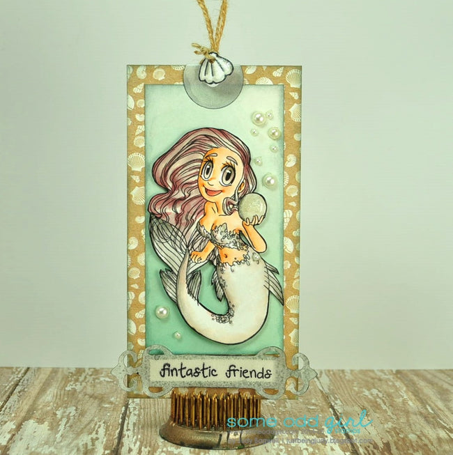 Pearl Mermaid Digi Stamp, SomeOddGirl - 5