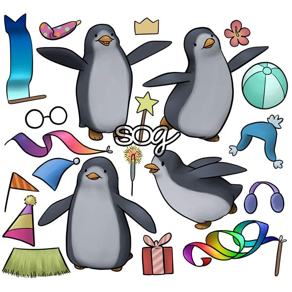 Penguin Pals Digi Stamp Set