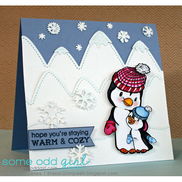 Momma & Baby Penguin Digi Stamp