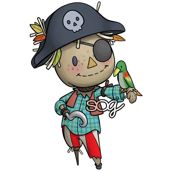 Mini Pirate Scarecrow Digi Stamp