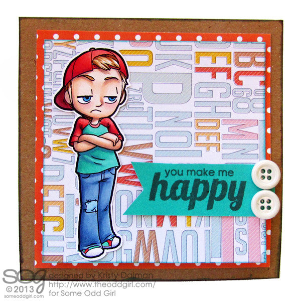 Pouting Tobie Digi Stamp, SomeOddGirl - 2