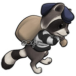 Raccoon Burglar Digi Stamp
