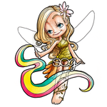 Rainbow Fairy Digi Stamp, SomeOddGirl - 1
