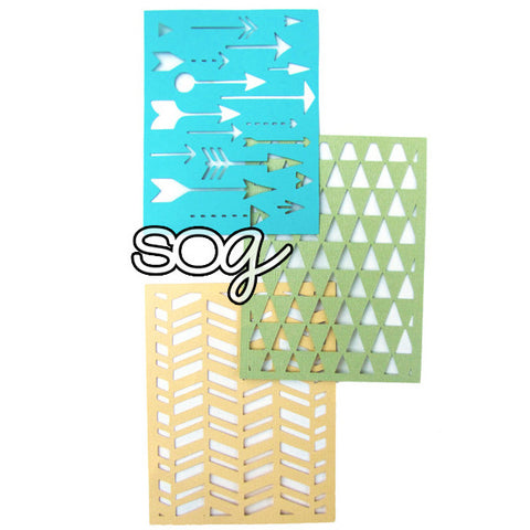 Cut File: Rectangle Card Backgrounds, SomeOddGirl