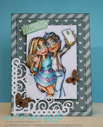 Mae and Kaylee Selfie Digi Stamp