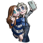 Mae and Kaylee Selfie Digi Stamp, SomeOddGirl