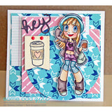Hipster Mae Clear Stamp, SomeOddGirl - 2