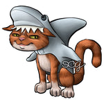 Shark Cat Digi Stamp, SomeOddGirl - 1