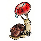 Umbrella Snail Digi Stamp