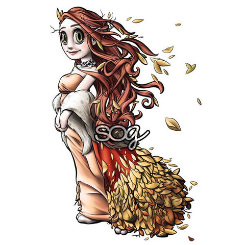 Spirit of Autumn Digi Stamp, SomeOddGirl