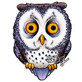 Tired Owl Digi Stamp