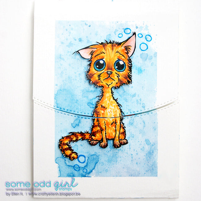 All Wet Cat Digi Stamp, SomeOddGirl - 2
