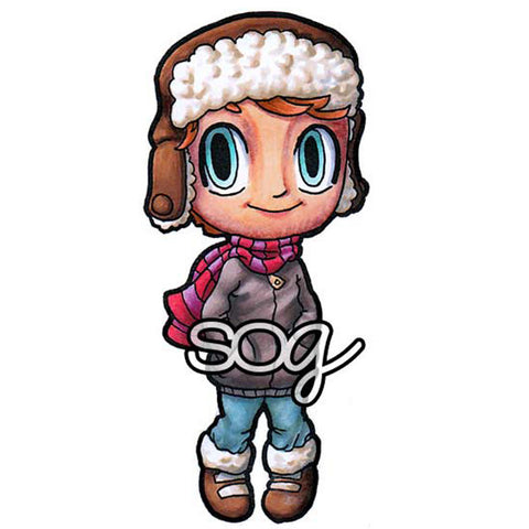 Winter Tobie Digi Stamp, SomeOddGirl - 1