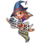 Witchy Mae Digi Stamp, SomeOddGirl - 1