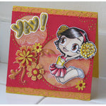 Cheerleader Kaylee Digi Stamp, SomeOddGirl - 2