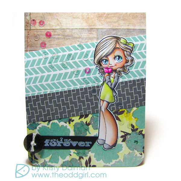 Romantic Gwen Clear Stamp, SomeOddGirl - 2