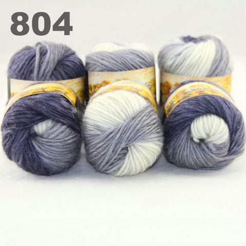 6x50gr Skeins NEW Chunky Hand Coarse Knitting Scores wool yarn  804