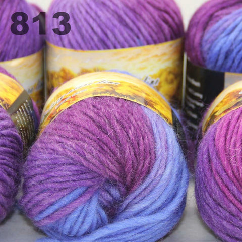 6x50gr Skeins NEW Chunky Hand Coarse Knitting Scores wool yarn   813
