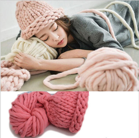 Free Shipping Korea Katie Fashion Thick Big Yarn For Hat & Scarf Thick Knitting DIY Super Big Knit Wool Yarn 250 Gram