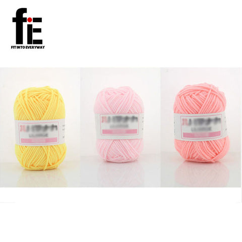 10pcs Soft Bamboo Cotton fil a tricoter Baby Yarn Crochet Knitting Yarn Wool Thick Yarn For Knitting Threads Hand Knit