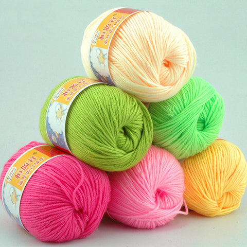 Knitting Yarn Natural Soft Cashmere Yarn Cotton Yarn High Quality Baby Yarn For Hand Knitting