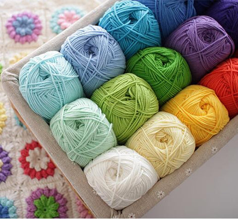 5 balls/lot(500g) Natural Smooth Worsted Soft crochet cotton yarn wool knitting milk cotton knitting yarn for knitting,Z4427