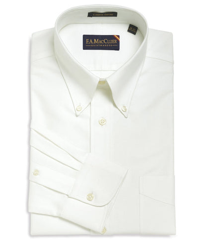 Classic Beefy Oxford Solid White  Button Down