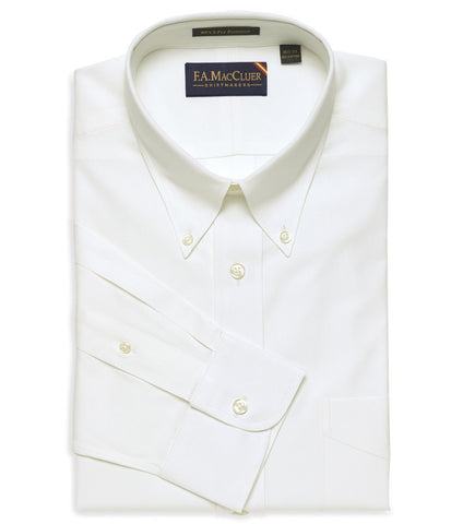 White Classic Pinpoint Big & Tall Button Down